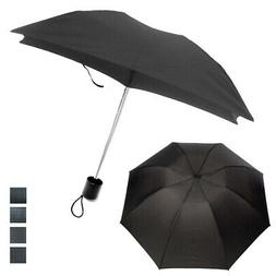 1 Mini Folding Compact Umbrella Travel Portable Black Super