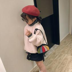 1 Pc Children's Messenger Bag Umbrella Shape Design Clutch B