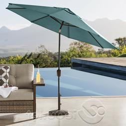 10' ALUMINUM SUNBRELLA AUTO-TILT PATIO MARKET UMBRELLA - TEA