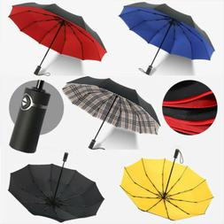 10 Ribs Automatic Windproof Umbrella Auto Open/Close Foldabl