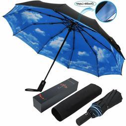 10 Ribs Umbrella,Large Travel Umbrella, Windproof Umbrella,
