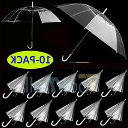 10 X Transparent Clear Automatic Umbrella Parasol for Weddin