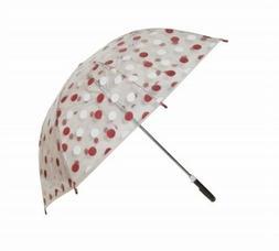 Conch Umbrellas 1079HBrown Polka Dot Clear Children Umbrella