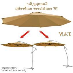 10ft 8 rib Hanging Cantilever umbrella replacement canopy ri