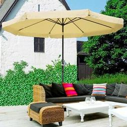 10ft Outdoor Patio Umbrella Crank Tilt with Valance & Base S
