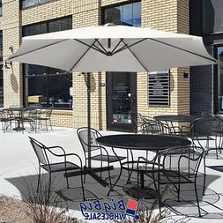 10Ft Outdoor Patio Umbrella Offset Cantilever Hand Cranking