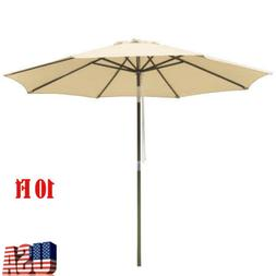 10FT Patio Umbrella Canopy Top Cover Replacement 8 Ribs Mark