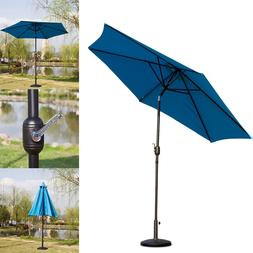 "10FT Patio Umbrella Outdoor Tilt w/ Crank Sunshade 17.5"" U"