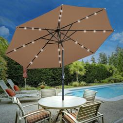 10ft solar umbrella led lighted patio market