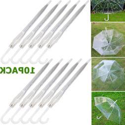 10X Transparent Clear Automatic Umbrella Parasol for Wedding