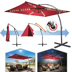 10x6.5ft Cantilever Patio Banana Umbrella Rectangle Hanging