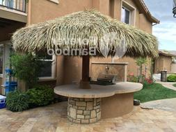 12' Palapa Mexican Palm Thatch Round Tiki Umbrella Cover- Fo