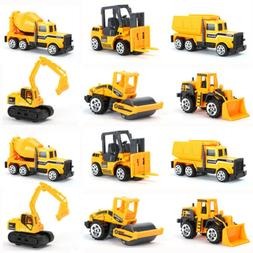 12 Pcs Kids Mini Alloy Construction Vehicle Toy Excavator Du