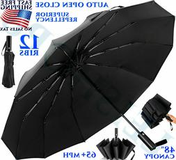 12 RIBS TRAVEL UMBRELLA WATERPROOF WINDPROOF COMPACT SUPER L