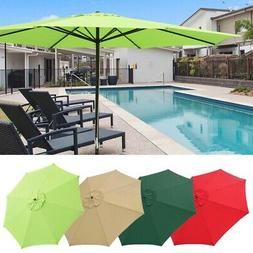 13' FT Sun Shade Patio Aluminum Umbrella UV30+ Outdoor Marke