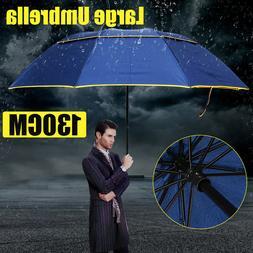 130CM Men Women Large Folding Rain Umbrella Anti-UV Windproo