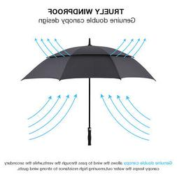 130CM Men Women Large Folding Rain Umbrella Anti-UV Windproo