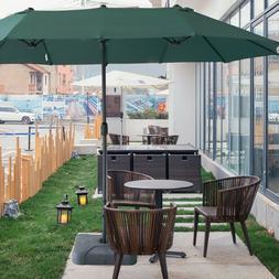 15Ft Large Size Patio Umbrella Outdoor Garden Yard Market Su