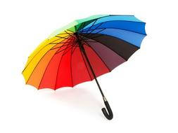 16 Rib Rainbow Golf Umbrella Ultra Durable Deluxe Strong Win