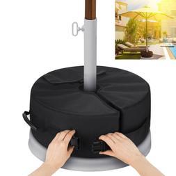 "18"" Round Umbrella Base Stand Outdoor Patio Waterproof Weigh"