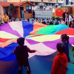 1pc 3M Kid Child Play Rainbow Umbrella Parachute Sports Outd