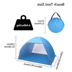 2-3 Person Canopy Beach Umbrella Sun Fishing Beach Shelter A