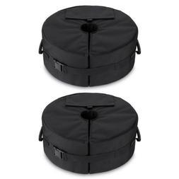 "2 Pack 18"" Round Weight Sand Bags Umbrella Base Stand Garden"