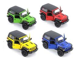 Kinsmart 2018 Jeep Wrangler 1:34 Scale with Hard Top Diecast