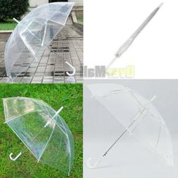 2019 Large Transparent Clear Dome See Through Umbrella With