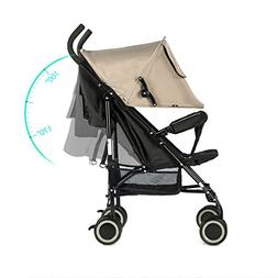 EVEZO 2141A Full-Size Ultra Lightweight Umbrella Stroller, R