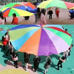 2M Child Rainbow Umbrella Parachute Outdoor Sports Play Game