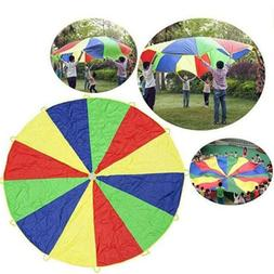 2M Child Rainbow Umbrella Parachute Outdoor Sports Play Game