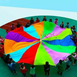 2M Kid Rainbow Umbrella Parachute Outdoor Sports Play Game I