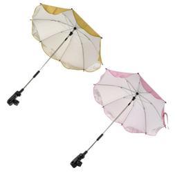 2pcs Sun Protection Camping Sunshade Umbrella with Universal