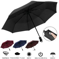 Automatic 3 Folding Umbrella Anti-UV Sun/Rain Windproof Comp