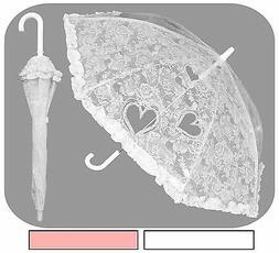 """32"""" Arc Children Lace Parasol Style Umbrella - RainStoppers"""