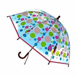 "32"" Children Kid Clear w/Dots Umbrella - RainStoppers Rain"
