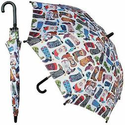 "32"" Children Kid Cowboy Horse Umbrella - RainStoppers Rain"