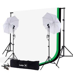 Upland 33'' Umbrella Lights with Backdrop Stand Kit, 2 Umbre