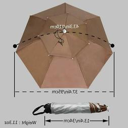 37.4'' Diameter Double Layer Folding Compact UV Wind Protect
