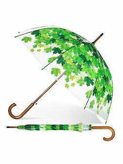 """37"""" Width Clear Plastic Spring Leaves Bubble Umbrella"""