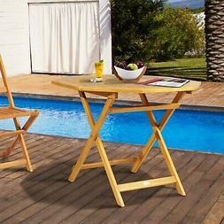 "39"" Acacia Wood Octagon Folding Outdoor Bistro Table with"