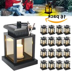 4-20X Outdoor Waterproof LED Candle Lantern Garden Umbrella