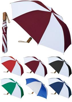 "42"" Arc Collapsible Auto-Open Deluxe Two-Tone Umbrella - Rai"