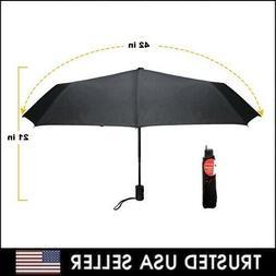 "42"" Large Umbrella Men/Women Three Folding Anti-UV Windproof"