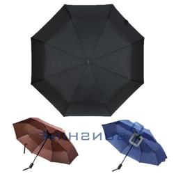 "42"" Large Umbrella Men/Women Three Folding Anti-UV Windproof"