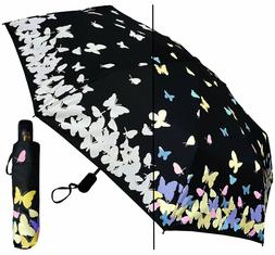 "44"" Arc Color-Changing Butterfly Auto-Auto Mini Umbrella-Rai"