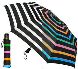 "44"" Arc Color-Changing Stripes Auto-Auto Mini Umbrella-RainS"