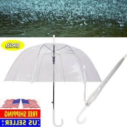 "46"" Arc Clear Full Dome Umbrella -Rain Bubble Travel Large T"