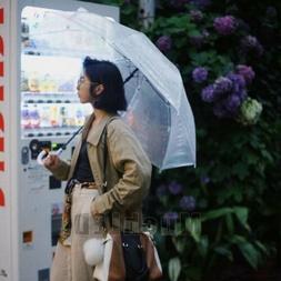"46"" Arc Clear Full Dome Style Umbrella RainStoppers Rain Fas"